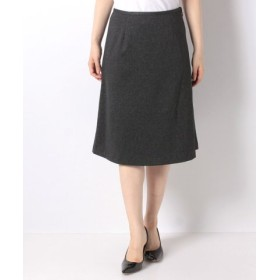 (A/C DESIGN BY ALPHA CUBIC/エーシーデザインバイアルファキュービック)キャリーマンポンチフレアスカート/レディース チャコール