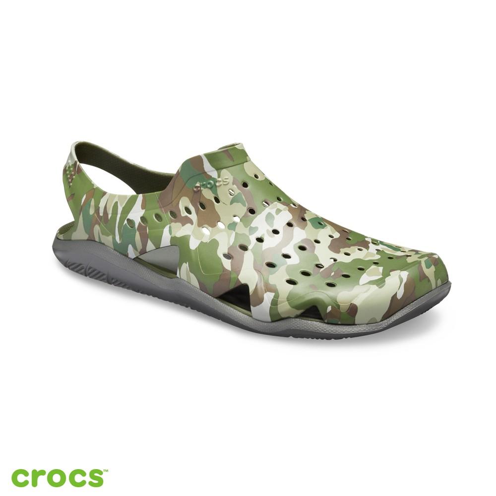 Crocs 卡駱馳 (男鞋) 男士激浪迷彩涼鞋-206010-97G