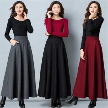 高品質新入庫!暖冬は必須だ レディースファッション 秋冬 新しいデザイン 快適で暖かい ロング丈 スカート ママ大人 綺麗 ロングスカート