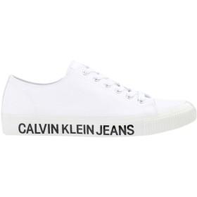 《期間限定セール開催中!》CALVIN KLEIN JEANS メンズ スニーカー&テニスシューズ(ローカット) ホワイト 40 ポリエステル DEANGELO