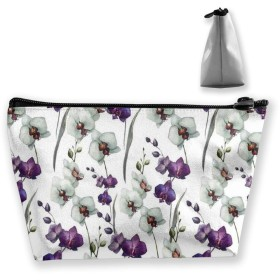 Cosmetic Bag Makeup Bag - Bathroom - Storage (Purple and White Flowers Patterns)
