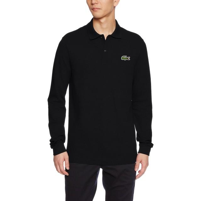 (ラコステ)LACOSTE スリムフィットポロシャツ (長袖) PH4013 031 ブラック 003
