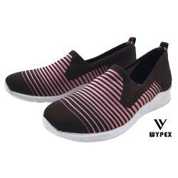【WYPEX】S19-42率性編織休閒女鞋-咖啡X粉