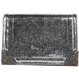 《セール開催中》TIPE E TACCHI レディース ハンドバッグ シルバー 革 / 紡績繊維