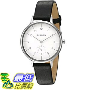 [美國直購] Skagen Women's 女士手錶 SKW2415 Anita Black Leather Watch