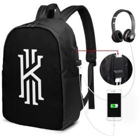 Kyrie Irving カイリー アービング USBバックパッククラシックコンピューターバッグ17インチラップトップバックパック旅行ビジネスラップトップバックパックユニセックス大容量で耐久性のあるバックパック
