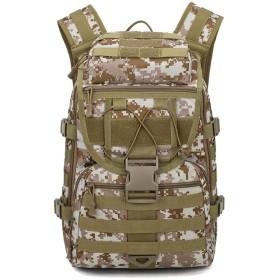 防水ハイキングアウトドアリュックバッグ戦術的な軍事ファンのショルダーバッグスポーツバッグ,デジタル砂漠