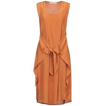 《セール開催中》TELA レディース 7分丈ワンピース・ドレス オレンジ S シルク 100%