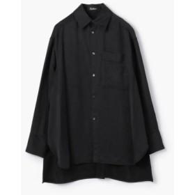 (TOMORROWLAND/トゥモローランド)Edition フィブリルサテン ビッグカラーシャツ/レディース 19ブラック