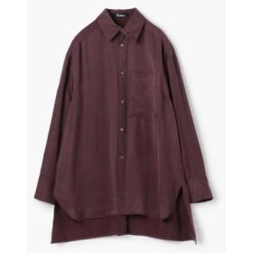 (TOMORROWLAND/トゥモローランド)Edition フィブリルサテン ビッグカラーシャツ/レディース 39ボルドー