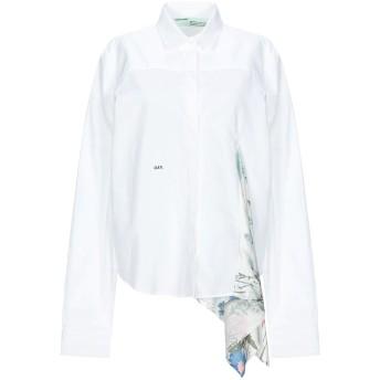 《セール開催中》OFF-WHITE レディース シャツ ホワイト 40 コットン 100% / ポリエステル