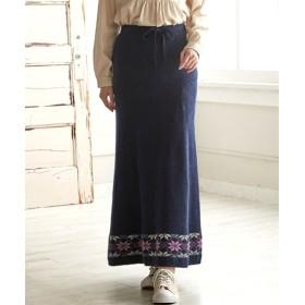 ジャガードニットロングスカート (大きいサイズレディース)スカート, plus size skirts, 裙子