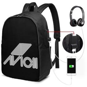 Avicii バックパック リュック 17inch 大容量 USB充電ポート イヤホンポート 耐久 人気 機能的 通勤通学 男女兼用 出張 学生 運動 鞄 ショルダー 手提げ