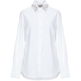 《セール開催中》KI6 WHO ARE YOU レディース シャツ ホワイト 40 コットン 70% / ナイロン 27% / ポリウレタン 3%