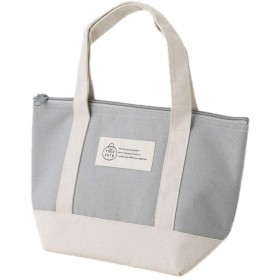TOCO TOTE ランチバッグ 薄グレー 内側アルミ(保温・保冷) タグ柄 トコトート