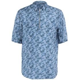 《セール開催中》EMPORIO ARMANI メンズ シャツ ブルーグレー 40 シルク 100%