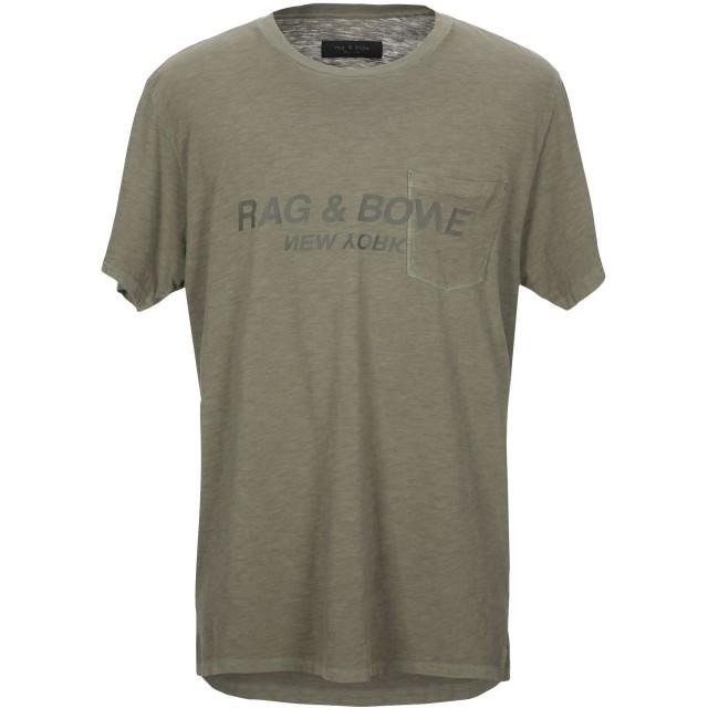 《セール開催中》RAG & BONE メンズ T シャツ ミリタリーグリーン XS コットン 100%