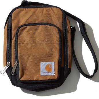Carhartt カーハート ミニ ショルダーバッグ メンズ サコッシュ ポーチ 撥水 無地 茶色 小さめ 斜めがけ 斜め掛け ブランド 旅行 アウトドア 釣り キャンプ フェス カバン 鞄 バッグ BAG ブラウン FREE サイズ