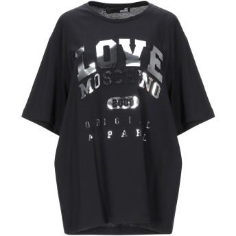 《セール開催中》LOVE MOSCHINO レディース T シャツ ブラック 38 コットン 100%