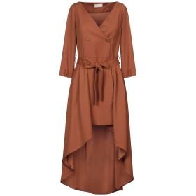《セール開催中》VICOLO レディース ミニワンピース&ドレス ブラウン M ポリエステル 100%