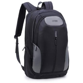 YIKETING 男性用バックパック多機能ショルダーコンピューターバッグ17.3インチカジュアルバッグ (色 : 黒, サイズ : 17.3inch)