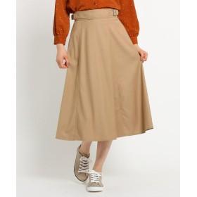 Dessin(Ladies)(デッサン(レディース)) ストレッチギャバ ベルトスカート