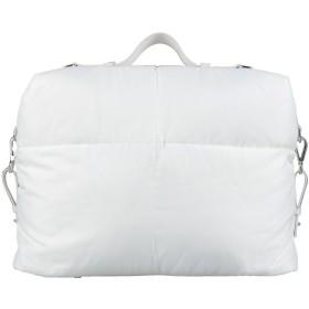 《セール開催中》JIL SANDER メンズ 旅行バッグ ホワイト ナイロン 100% / 牛革(カーフ)