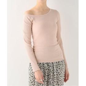 EMILY WEEK Organic Cotton /PU リブオフィショルプルオーバー ピンク フリー