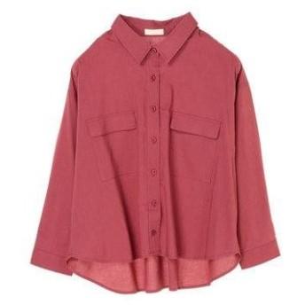アースミュージックアンドエコロジー earth music&ecology ポケット付き羽織りシャツ (Dark Pink)
