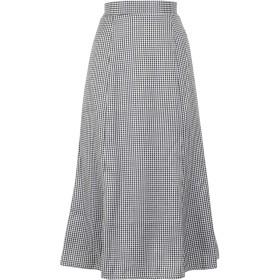[神戸レタス] マーメード バックウエストゴム フレア スカート [M2611] レディース ワンサイズ チェック柄ブラック