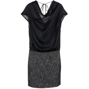 《セール開催中》LIU JO レディース ミニワンピース&ドレス ブラック 40 ポリエステル 100% / アクリル / コットン / ウール / ナイロン
