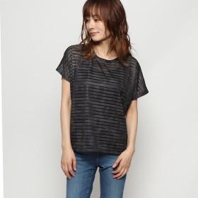 デシグアル Desigual Tシャツショートスリーブ TEE STRIPES PATCH (グレー/ブラック)