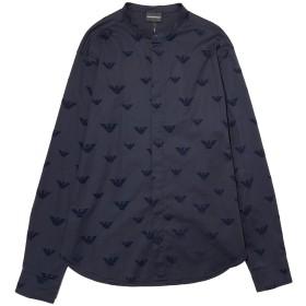《期間限定セール開催中!》EMPORIO ARMANI メンズ シャツ ダークブルー XXS コットン 97% / ポリウレタン 3%
