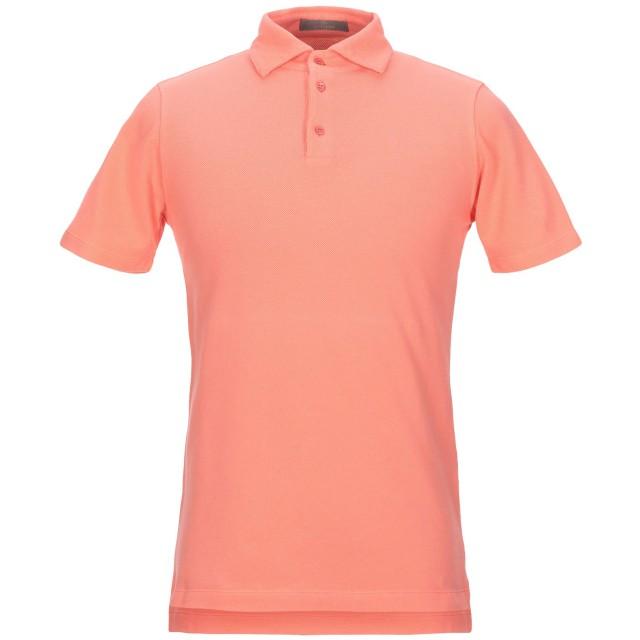 《セール開催中》CRUCIANI メンズ ポロシャツ サーモンピンク 46 100% コットン