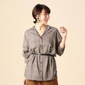 [マルイ]【セール】ツイルチェックチュニックシャツ/ドゥ アルシーヴ(Doux archives)