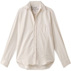 Frank&Eileen フランク&アイリーン EILEEN イタリアンカラーストーンウォッシュドインディゴシャツ オフホワイト