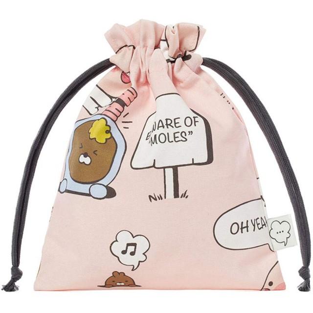 [オフィシャル] カカオフレンズ - レイジーサンデー ポーチ KAKAO FRIENDS - Lazysunday Pouch (Pink)