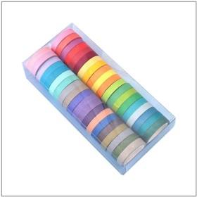 マスキングテープ 和紙テープ テープ DIY 工芸品 子供のためのアートプロジェクトギフト デコレーション 装飾用 40巻 40色セット (マルチカラー)