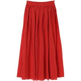 【6,000円(税込)以上のお買物で全国送料無料。】フレンチリネンボリュームギャザースカート