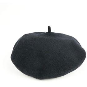 30㎝ 大判 男女兼用 シンプル 無地 ベレー帽 ベーシック 3色 ブラック レッド グレー (ブラック)