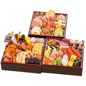 【おせち】京都 栄寿庵 和・洋 三段重(W223)<関西地域お届け>382230