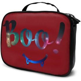 収納袋ハロウィーンブーカラフル化粧品袋耐摩耗性軽量ポータブル高品質大容量旅行ポーチバスルームポーチ旅行小物整理約8×25×19cm