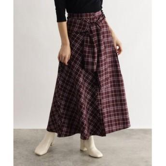 OZOC / オゾック [洗える]チェック切替スカート