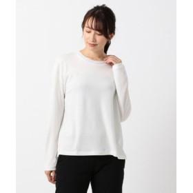 (JIYU-KU(SMALL SIZE)/自由区(小さいサイズ))【洗える】テンセルウール クルーネックプルオーバー/レディース ホワイト系