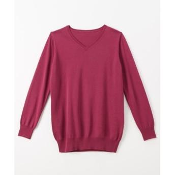 綿100% 洗濯機で洗える♪ ニット(選べる3タイプ) (ニット・セーター)(レディース)Knitting, Sweater, テレワーク, 在宅, リモート