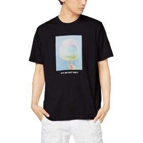 ウィゴー(メンズ)(WEGO) スイーツフォトTシャツ【ブラック/L】