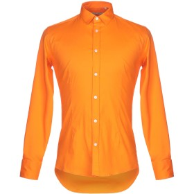 《セール開催中》DANIELE ALESSANDRINI メンズ シャツ オレンジ 38 コットン 97% / ポリウレタン 3%