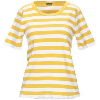 《セール開催中》MALPARMI レディース T シャツ イエロー XL コットン 94% / ポリウレタン 6%
