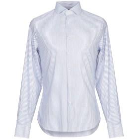 《セール開催中》MARCIANO メンズ シャツ ブルー 42 コットン 75% / ナイロン 22% / ポリウレタン 3%