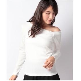 DAISY MERRY テレコワンショルTシャツ(オフホワイト)【返品不可商品】